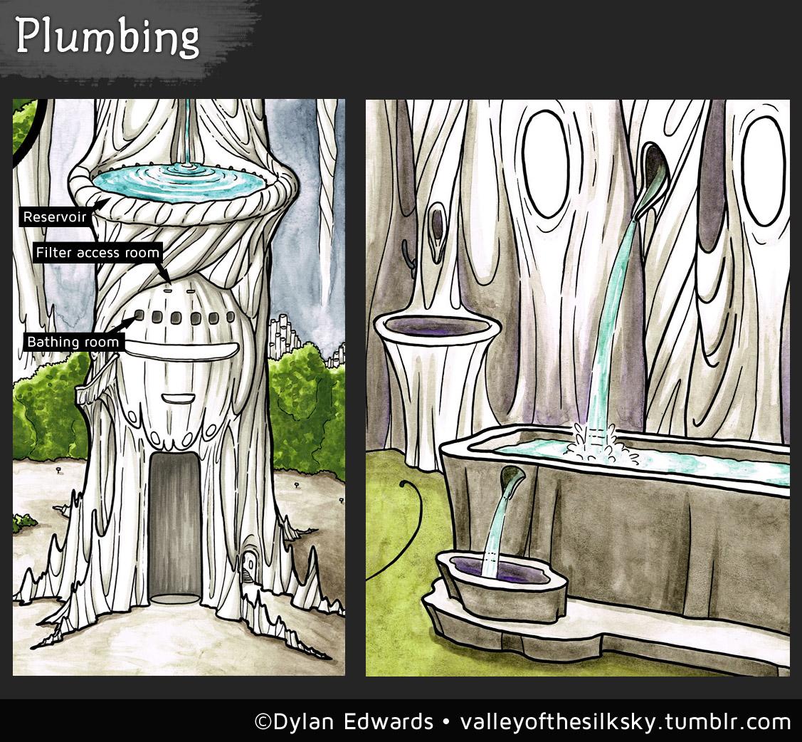 Valley of the Silk Sky - plumbing