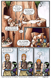 Valley of the Silk Sky queer YA sci-fi fantasy webcomic