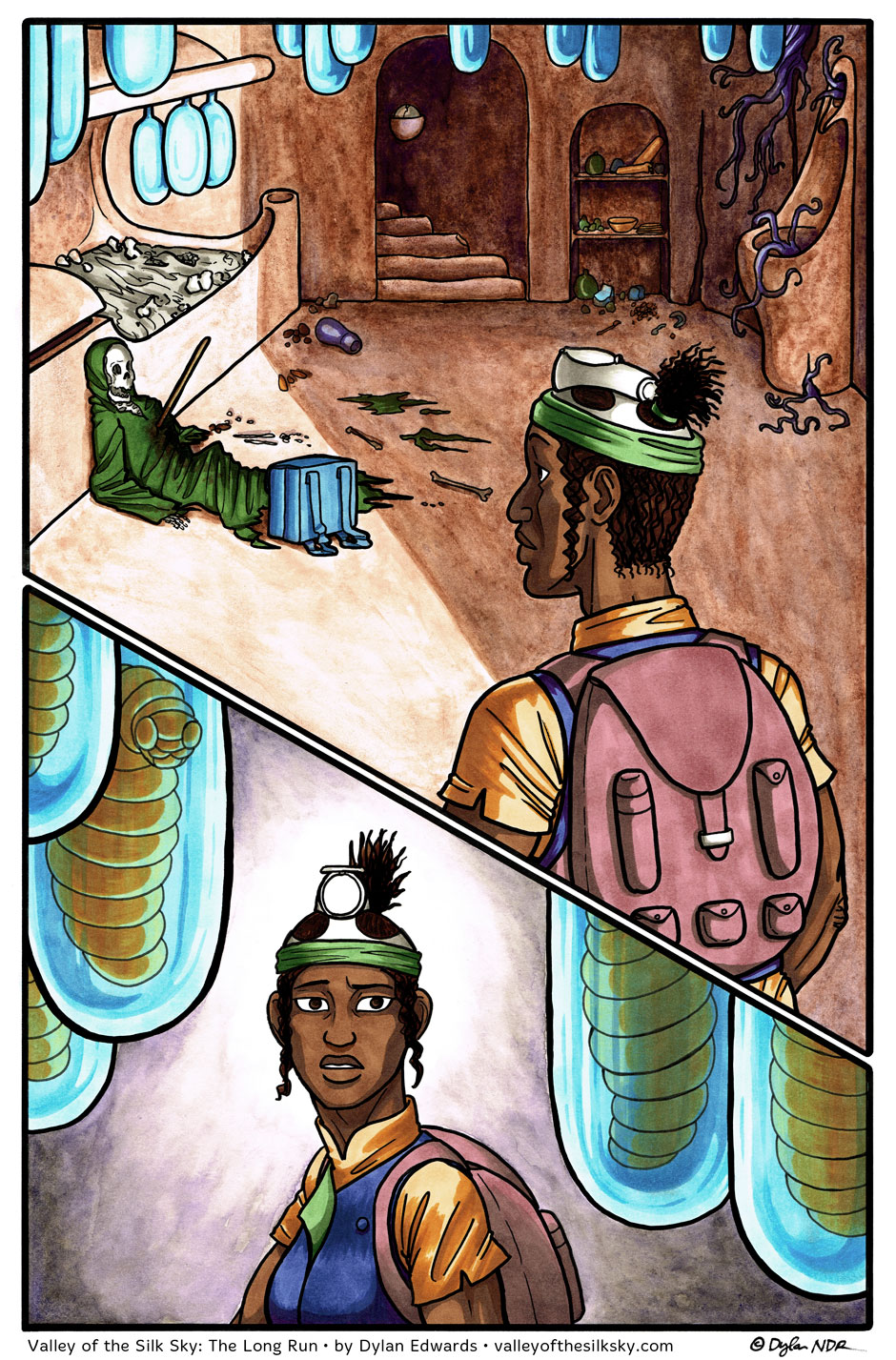 Valley of the Silk Sky queer YA webcomic